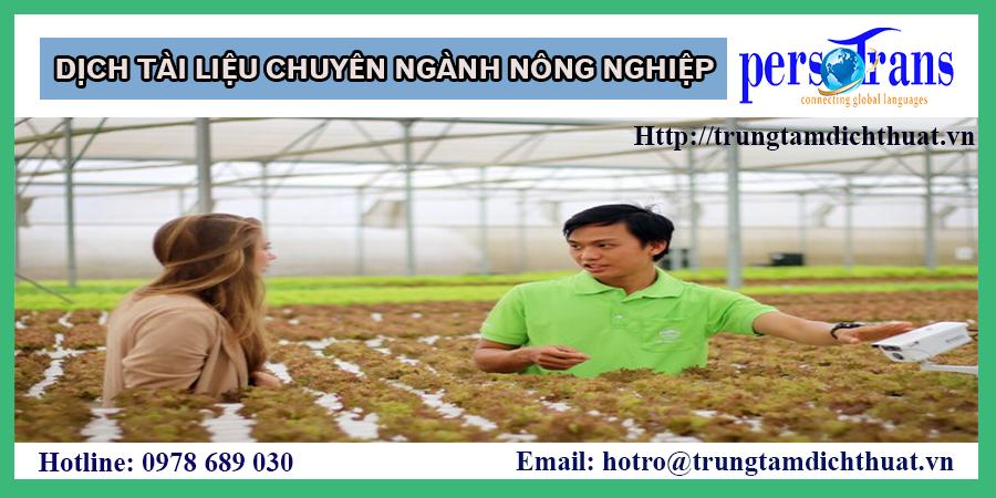 dịch thuật ngành nông nghiệp
