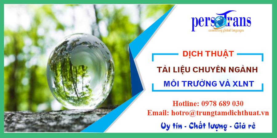 dịch tài liệu ngành môi trường, xử lý nước thải