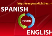 Dịch thuật tiếng ANh sang tiếng Tây Ban Nha