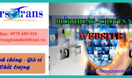 Dịch thuật và chuyển ngữ Website
