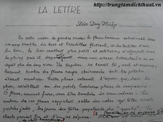 dịch thuật tài liệu tiếng pháp sang tiếng việt