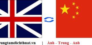 dịch vụ dịch tiếng Anh sang tiếng Trung