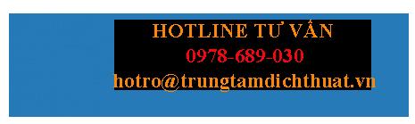 Hotline tư vấn dịch vụ dịch thuật tại PERSOTRANS