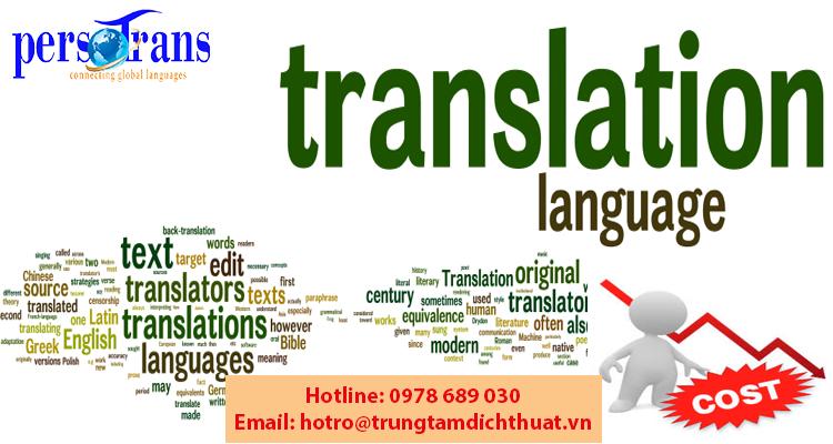 Các yếu tố quyết định chi phí dịch thuật tiếng Anh