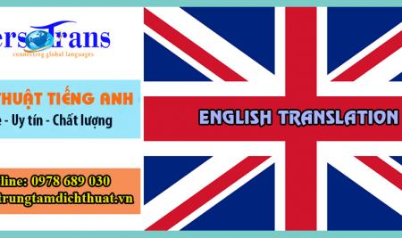 Dịch Thuật Tiếng Anh Chất Lượng Bảo Hành 100% Tại PERSOTRANS