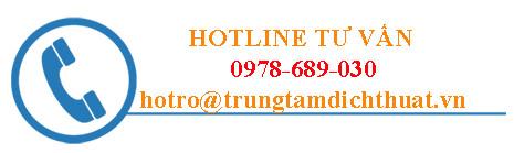 hotline tư vấn dịch thuật