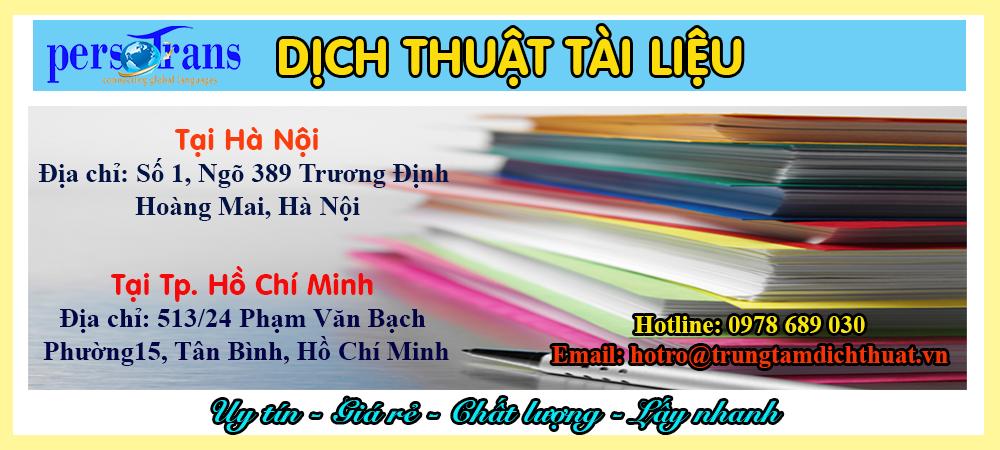 dịch thuật tài liệu văn bản giá rẻ tại hà nội