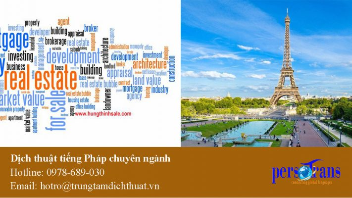 dịch tài liệu chuyên ngành tiếng pháp
