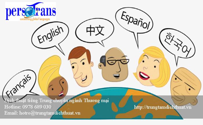 Sự khó khăn trong lĩnh vực dịch chuyên ngành thương mại bằng tiếng Trung