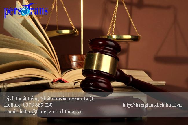 dịch tài liệu chuyên ngành Luật tiếng Nhật