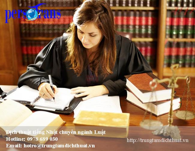 dịch tài liệu văn bản chuyên ngành Luật tiếng Nhật