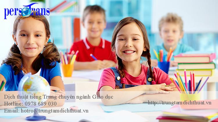 dịch tiếng trung chuyên ngành giáo dục