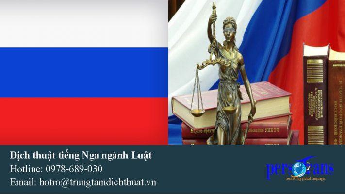 dịch thuật tài liệu chuyên ngành luật tiếng nga