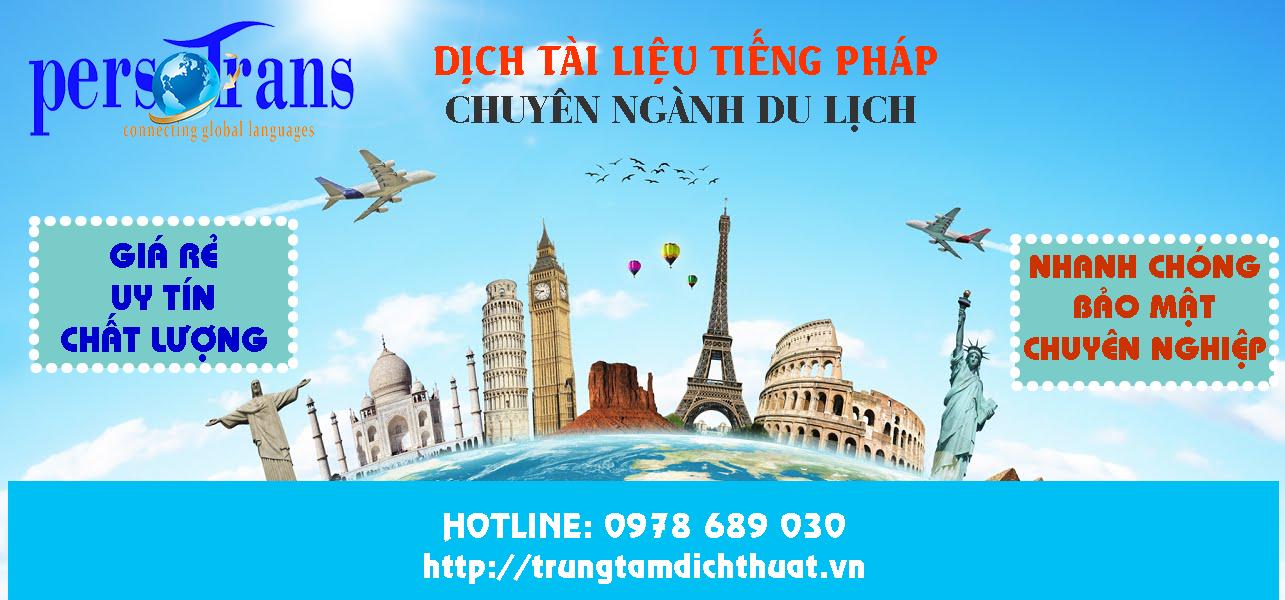 dịch văn bản ngành du lịch bằng tiếng pháp
