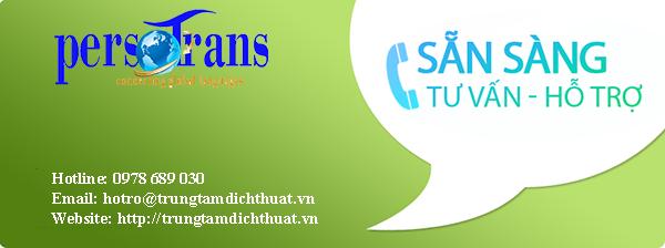 Thông tin liên hệ dịch thuật tiếng Pháp sang tiếng Anh tại Persotrans