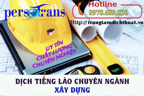 Dịch tài liệu tiếng Lào chuyên ngành xây dựng ngày nhu cầu càng lớn
