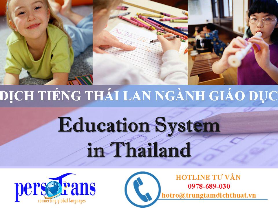 Dịch vụ dịch thuật tiếng Thái Lan chuyên ngành giáo dục ngày càng phát triển