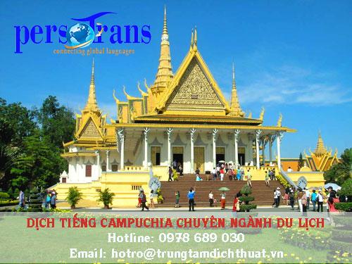 Lĩnh vực du lịch phát triển mạnh mẽ thúc đẩy ngành dịch vụ dịch tài liệu tiếng Campuchia chuyên ngành duc lịch phát triển theo