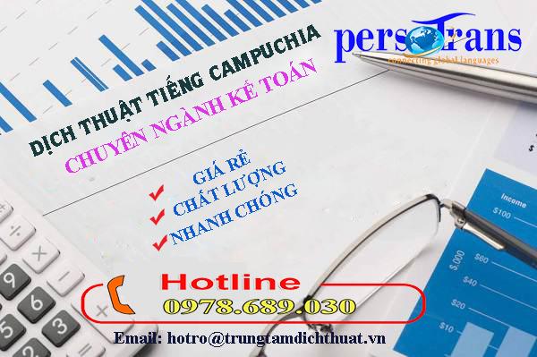 Chất lượng dịch vụ dịch thuật tiếng Campuchia nganh kế toán tại Persotrans