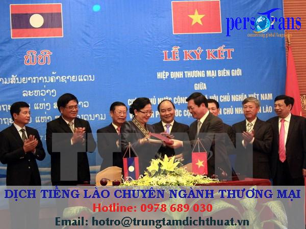 Nhu cầu dịch tài liệu chuyên ngành thương mại tiếng Lào ngày càng lớn nhờ sự hợp tác phát triển mạnh mẽ giữa hai nước trong những năm gần đây