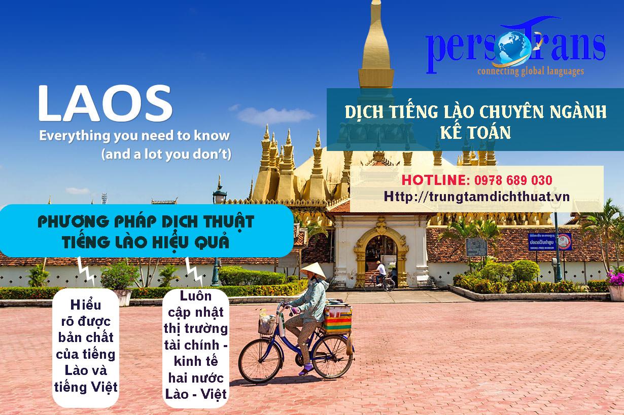 Làm sao để lựa chọn được đơn vị cung cấp dịch vụ dịch tài liệu tiếng Lào chuyên ngành kế toán có phương pháp chất lượng?