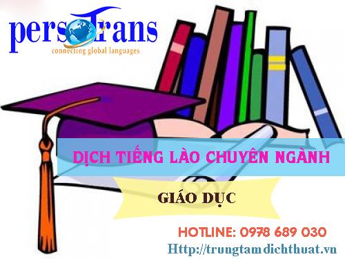 dịch thuật tài liệu tiếng lào chuyên ngành giáo dục