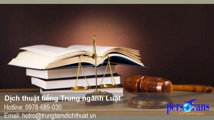 dịch tiếng trung ngành luật
