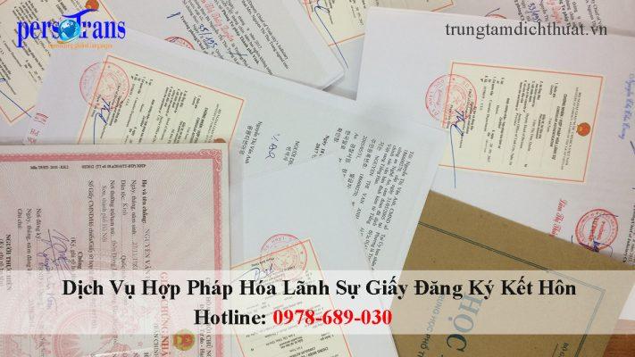 dịch vụ hợp pháp hóa lãnh sự giấy đăng ký kết hôn